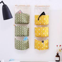 Fabric Hanging Organizer Australia - Fabric Art Fashion Storage Bag Moisture Proof Door Wall Hanging Organizer Bags Convenient Holder Pockets Home Decor zhao