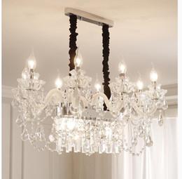 $enCountryForm.capitalKeyWord Australia - Free Shipping Crystal Chandelier Clear White Pendant lustre de cristal Decoration Modern Pendants and Chandeliers Home Lighting