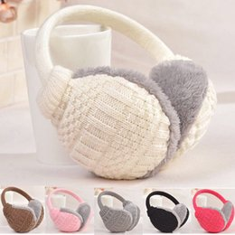 $enCountryForm.capitalKeyWord NZ - New Fashion Winter Warm Knitted Earmuffs Ear Warmers Fashion Women Girls Ear Muffs Earlap Plush Knit Solid Protect