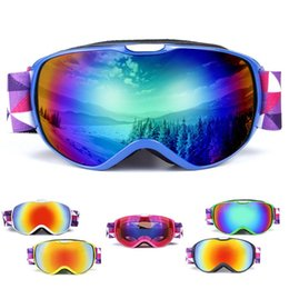 purple ski goggles UK - Anti-fog Goggles Ski UV400 Protection Ski snowboard Winter Snow Sports Ski Goggles Children Skating Snow Goggles