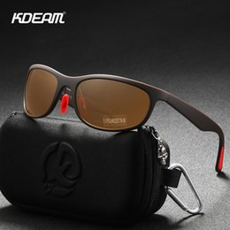 flexible sunglasses Australia - KDEAM Flexible Structure TR90 Men's Sunglasses Polarized Outdoor Glare Free Sun Glasses Black Lenses Rubber Temples Cat.3 KD037 MX200619