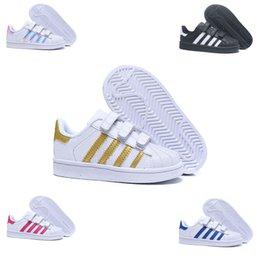 Ingrosso Adidas  Superstar scarpe da tennis per bambini ragazze superstar 2018 primavera autunno inverno nuovo arrivo moda super star adolescente scarpe casual calzature bambino