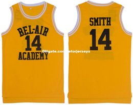 Wholesale Cheap Customize The Fresh Prince of Bel Air Academy Retro Basketball Jerseys Will Smith Yellow MEN WOMEN YOUTH XS XL