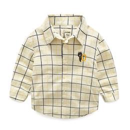 school shirts for boys 2019 - Brand Cartoon Dinosaur Boys Shirts 100% Cotton Long-sleeve Children School Shirts For Boys 2-7 Years Kids Clothes Boys B