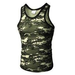 $enCountryForm.capitalKeyWord Australia - Fetong Tank Top 2019 Gym Clothing Summer Casual Slim Fit Sport Camouflage Elastic Short Tops Vest Men Tank Tops Undershirt