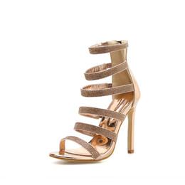 $enCountryForm.capitalKeyWord Australia - New hot style 2019 summer catwalk shows women's shoes big code 41-42 gold diamond stiletto heel sandals