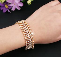 Silver Tennis Australia - High Quality Lady Bracelets Women Fashion Jewelry Arrow Diamond Tennis Bracelets Silver Plated  18K Gold Plated Bracelets-P