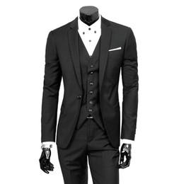 Mens white linen suit wedding online shopping - 2019 Fashion Pack Slim Fit Black Wine Linen Men Suit Wedding Party Smoking Tuxedo Mens Casual Work Wear Suits Dropshipping SH190822