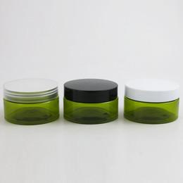 $enCountryForm.capitalKeyWord Australia - 24 x 100g Empty Green Cosmetic Cream Containers Cream Jars 100cc 100ml for Cosmetics Packaging Plastic Bottles With Plastic Cap