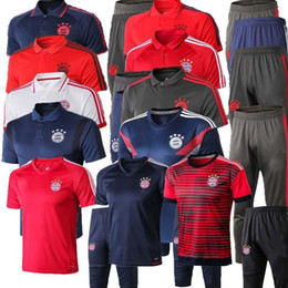 $enCountryForm.capitalKeyWord Australia - 19 20 Bayern Munich Short sleeve shirt trousers soccer training suit 2018 2019 JAMES LEWANDOWSKI MULLER polo shirts Football shirt tracksui
