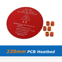 pcb printer Australia - 220mm 12V 120W MK3 PCB HeatBed Round Aluminum Plate Hotbed With 6pcs Leveling Silicon Column Spacer For Delta 3D Printer Parts