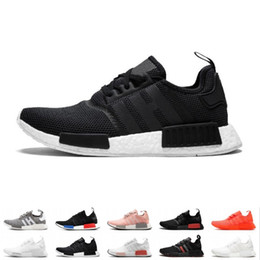24c43fd597857 NMD R1 Primeknit Running Shoes Men Women Triple Black White Og Classic  Tri-Color Grey Oreo Japan Red Sports Sneakers Size 36-45 Sale Online