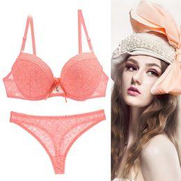 d955a5b8fc Bra Set 2018 Quality Underwear Women Lace Bra Set Plus Size Lenceria Sexy  Push Up Convertible Straps Rhinestone Lingerie Set