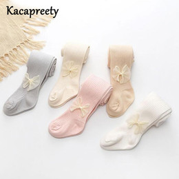 $enCountryForm.capitalKeyWord Australia - Adorable Silk Bowknot Baby Pantyhose Solid Color Cotton Tights Infant Princess Stocking Baby Girls Slim Pants Toddler Pp Bottom J190523
