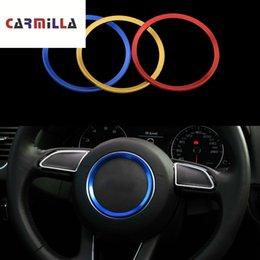 A4 cArtoon online shopping - Carmilla Car Steering Wheel Decorative Circle Trim Sticker for A1 A3 A4 A5 A6 A7 Q3 Q5 S3 S5 S7 Stainless Steel Accessories