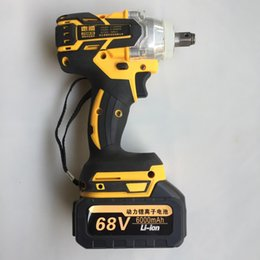 Battery power drills online shopping - Brushless Cordless Electric Wrench Impact Socket Wrench N M mAh Li Battery Hand Drill Installation Power Tools