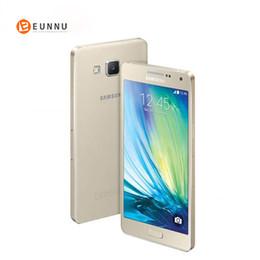 $enCountryForm.capitalKeyWord Australia - Original Unlocked Samsung Galaxy A5 2015 A500F A5000 4G LTE Mobile Phones 5.0inch 13MP 2GB 16GB NFC Snapdragon 410 Smartphones