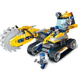 $enCountryForm.capitalKeyWord Australia - 279pcs Children's Building Blocks Toy Compatible City Saw Wheel Drilling Mining Truck Mining Engineering Vehicle Gifts J190719
