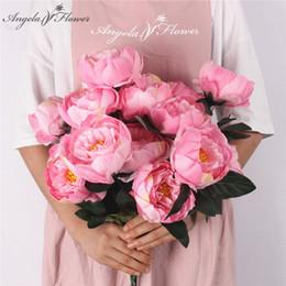 $enCountryForm.capitalKeyWord Australia - 7heads 42cm Artificial Flowers Peony Rose Bouquet Living Room Home Office Garden Diy Decor Fake Flores Artificiales 20colors C19041702