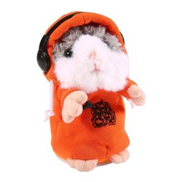 sayings animals UK - Lovely DJ Talking Hamster, Mimicry Pet Repeats What You Say Soft Plush Animal with Coat for Children's Birthday Christmas Gift