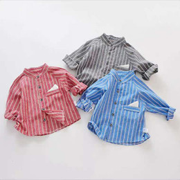 $enCountryForm.capitalKeyWord Australia - 2019 Cotton Linen Children's Cotton Collar Shirt Spring New Toddler Boy Shirt