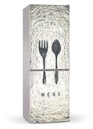 Chinese  Fridge Wrap   Fork Knife  Removable Self Adhesive Vinyl  Peel and Stick Decal Wallpaper manufacturers