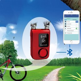 $enCountryForm.capitalKeyWord Canada - Quality Anti Theft Lock Intelligent Phone APP Control Smart Alarm Bluetooth Lock Waterproof 110dB Alarm Bicycle Outdoor #107511
