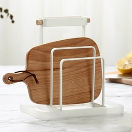white bedding pink roses NZ - Knife Block Cutting Board Chopper Holder Drying Rack Kitchen Storage Organizer Counter Display Stand With Tray White