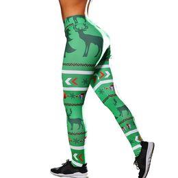 74b1ad4a1 High Waist Women Sport Leggings Christmas Tree Printed Gym Yoga Pants  Sportswear Outdoor Workout Trousers Sport Jogging Femme
