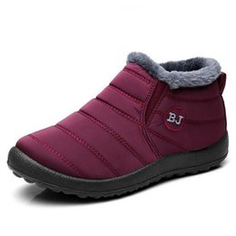 SneakerS Shoe for femaleS online shopping - Women Boots Lightweight Winter Shoes For Women Ankle Botas Mujer Waterpoor Winter Boots Black Snow Female Sneakers