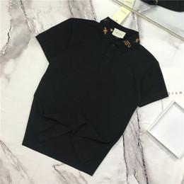 Discount python shirt - 19SS Italian brand Polo shirt short T-shirt sleeve lapel breathable men and women fashion lapel python embroidery logo s