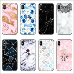 $enCountryForm.capitalKeyWord Australia - Marble Phone Case 27 Patterns Soft TPU Granite Back Cover Geometrical Pattern Phone Shell ins Style Christmas Gift For iPhone 8 X XR XS Max