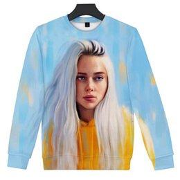3d Clothing Design Australia - Billie Eilish 3D Print Design Capless Pullover Hoodie Funny Hip Hop Crewneck Sweatshirts Autumn Women Men Fashion Brand Clothing