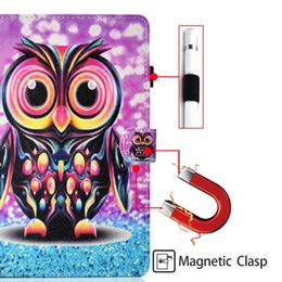 $enCountryForm.capitalKeyWord Australia - Cartoon Wallet Leather Case For Samsung Galaxy Tab A 10.1 2019 T510 T515 Tab A 8.0 P200 P205 S5e T720 T725 Tablet Owl Butterfly Stand Cover