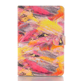 Wholesale Flip Wallet Designer iPad Case Colorful Graffiti Pu Leather Tablet PC Cases For Apple iPad Pro quot Air Shockproof For iPad mini
