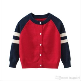 baby boy polo Australia - New Children's Top Clothes Brand 100% Cotton Baby Sweater High Quality Kids Outerwear Girl Sweater Boy Sweater V-neck Polo Sweaters 000