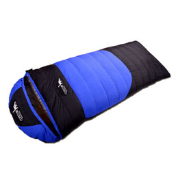 sleeping bags double winter Canada - New Outdoor Winter Waterproof Windproof Hiking Trekking Camping Travel Warm Portable Envelope Duck Down Sleeping Bag