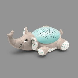 big sleeping bags NZ - Cartoon Plush Doll Ceiling Starry Night Lamp Projector LED Light Comfort Musics Baby Sleeping Aid Bedroom Decor Party Supply
