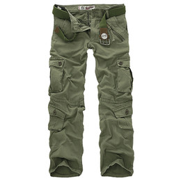 $enCountryForm.capitalKeyWord UK - Hot Sale Free Shipping Men Cargo Pants Camouflage Trousers Military Pants For Man 7 Colors SH190701