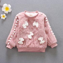 3t Girls Belt NZ - good quality girls winter sweater girl long sleeve clothes kids winter sweater for girls children fashion bow sweater coat.