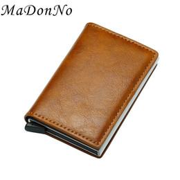 $enCountryForm.capitalKeyWord Australia - MaDonNo Rfid Card Holder Men Wallets Money Bag Short Male Purse 2018 Small Slim Leather Smart Wallets Pop Up Metal Mini #160217