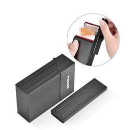 $enCountryForm.capitalKeyWord Australia - Newest Cigarette Case Holder Container 4 Colors With Rechargeable Electric USB Lighter 20pcs Capacity Gift Box For Smoking Tools Accessories