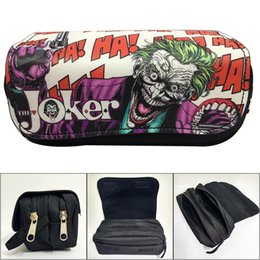 leather pencil case cosmetic bags Australia - Canvas Cartoon Joker Pencil Case Students Stationery Pen Pencil Bag Anime Leather trousse maquillage femme Cosmetic Cases Bags