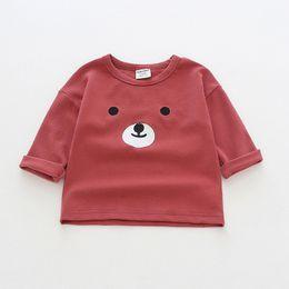 $enCountryForm.capitalKeyWord NZ - Autumn Cotton Children Kids Girl's Shirts Cartoon Bear Baby Girl Long Sleeve T Shirt Toddler Embroidery Costume Pullover Tops