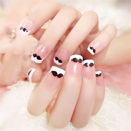 $enCountryForm.capitalKeyWord Australia - Top quality 24pcs fashion new short French style patch moustache decoration 3D charm DIY nail art jewelry accessories