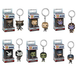 $enCountryForm.capitalKeyWord NZ - New funko pop marvel Avengers Endgame action figures Keychains Toys 6 Designs PVC Avengers Superhero Hulk Thanos Dolls Toys Kids Toys SS283