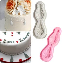 jewelry cupcakes Australia - Mayitr Silicone Mold Drop Jewelry cake Mold Cutter Fondant Cake Cupcake Chocalate Decoration Mold DIY Craft Cake Tools 92x22x5mm