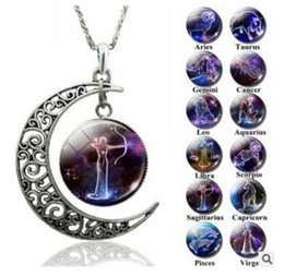 $enCountryForm.capitalKeyWord Australia - 12 constellations hollow out carving flower moon life tree time gem animal necklace outer space Universe Gemstone Pendant necklaces 571