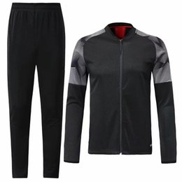 Originals tracksuit online shopping - 19 AC Sportswear SetFootball tracksuit shirts and trousers waist red black football Jersey S XL top quality original team suit
