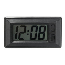 digital dashboard cars Canada - Car Styling LCD Digital Display Car Vehicle Dashboard Clock with Calendar Display Mini Portable Automobile Accessories